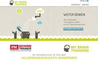 pm-gehirntrainer.de Webseiten Screenshot