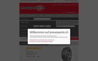 Pneuexperte Webseiten Screenshot
