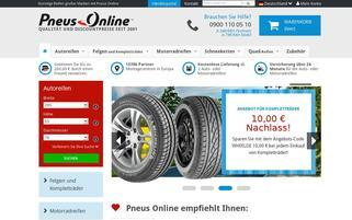 Pneus Online Webseiten Screenshot