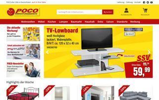 Poco Versand Webseiten Screenshot