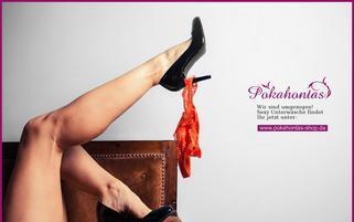 Pokahontas Shop Webseiten Screenshot
