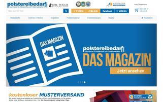 Polstereibedarf Online Webseiten Screenshot