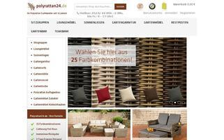 Polyrattan24 Webseiten Screenshot