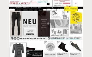 Popkorn Webseiten Screenshot