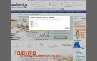 Porzellantreff Webseiten Screenshot