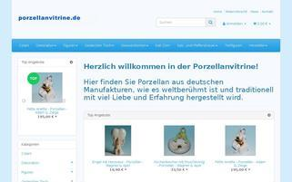 Porzellanvitrine Webseiten Screenshot