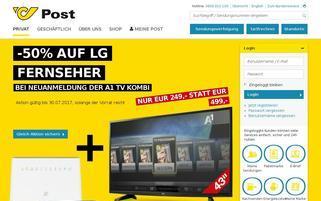 Post Österreich Webseiten Screenshot