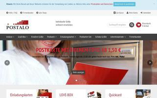 Postalo Webseiten Screenshot