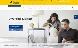 Postbank Webseiten Screenshot