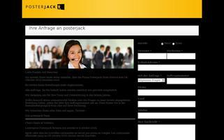 Posterjack.ch Webseiten Screenshot