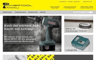 powertool-akku.de Webseiten Screenshot