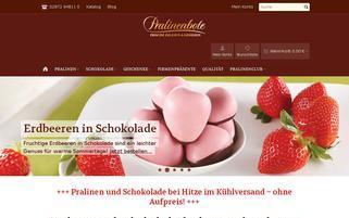 Pralinenbote Webseiten Screenshot