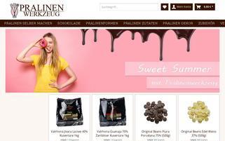 Pralinenwerkzeug Webseiten Screenshot