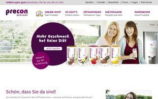 PreCon Webseiten Screenshot