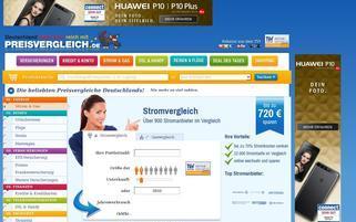 Preisvergleich.de Webseiten Screenshot