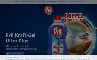Pril Webseiten Screenshot
