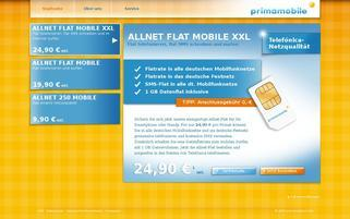 Primamobile Webseiten Screenshot
