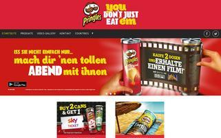 Pringles Webseiten Screenshot