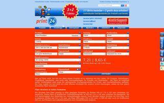 Print24 AT Webseiten Screenshot