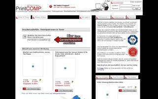 PrintCOMP Webseiten Screenshot