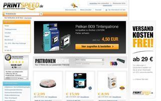 PrintSpeed Webseiten Screenshot
