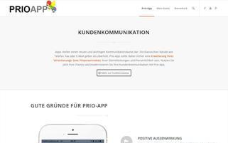 prio-app.de Webseiten Screenshot