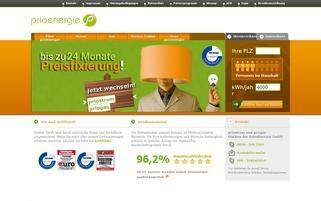 PrioEnergie Webseiten Screenshot