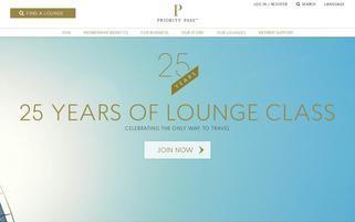 Priority Pass Webseiten Screenshot
