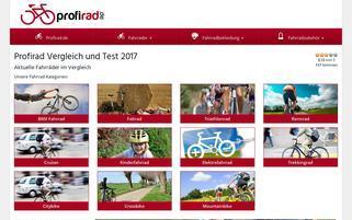 Profirad Webseiten Screenshot