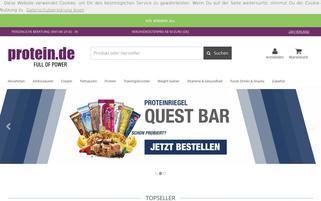 protein.de Webseiten Screenshot