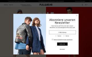 Pull and Bear Webseiten Screenshot