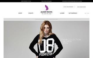 purple leaves Webseiten Screenshot