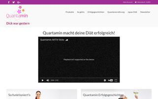 quantamin.com Webseiten Screenshot
