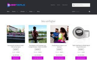 queerdeals.de Webseiten Screenshot