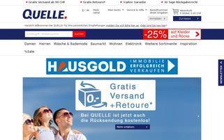 Quelle.ch Webseiten Screenshot