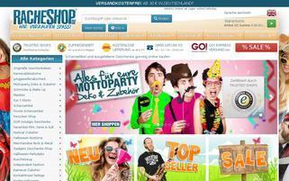 Racheshop Webseiten Screenshot