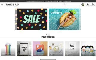 Radbag Webseiten Screenshot