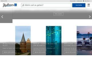 Radisson Blu Webseiten Screenshot