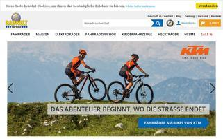 Radwelt-Shop Webseiten Screenshot