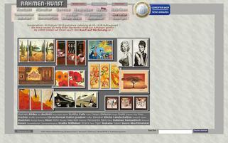 Rahmen-Kunst Webseiten Screenshot
