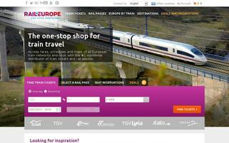 raileurope-world.com Webseiten Screenshot