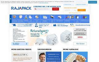Rajapack Webseiten Screenshot