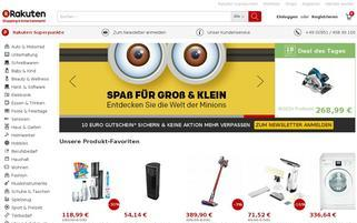 Rakuten Webseiten Screenshot