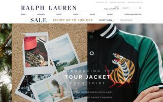 Ralph Lauren Webseiten Screenshot