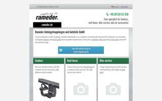 Rameder Webseiten Screenshot