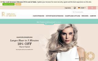 Rapunzel of Sweden Webseiten Screenshot