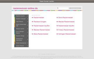 Rasiermesser-Online Webseiten Screenshot