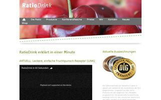 Ratiodrink Webseiten Screenshot