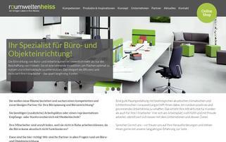 raumweltenheiss.de Webseiten Screenshot