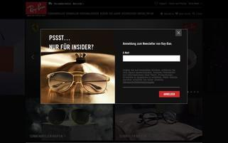 Ray Ban Webseiten Screenshot